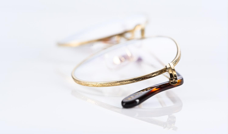 Savile Row – goldene Panto Brille mit ziseliertem Fassungsrand - KITSCHENBERG Brillen