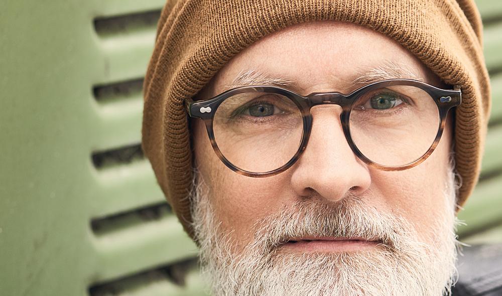 Moscot – Model Nicholas – grau braune Pantobrille mit genieteten Gelenken - KITSCHENBERG Brillen