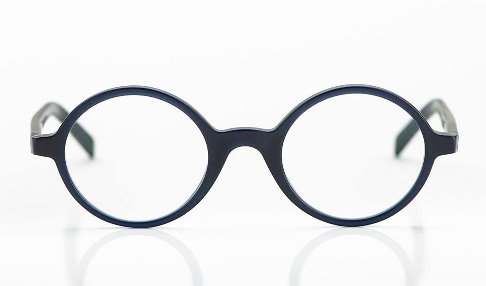 Oscar Magnuson – runde Acetatbrille in matt dunkelblau - KITSCHENBERG Brillen