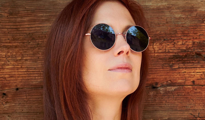 Ahlem – Model Kalisa – rosegoldene runde Sonnenbrille - KITSCHENBERG Brillen