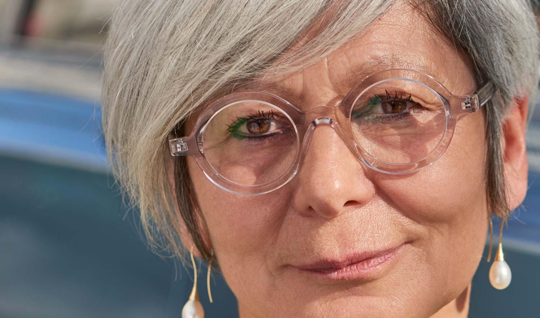 Oscar Magnuson – Model Lidia – transparente, massive runde Kunststoffbrille - KITSCHENBERG Brillen