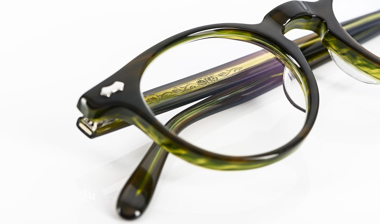 TVR – Panto Brille aus Japan mit genieteten Gelenken aus grünem Acetat - KITSCHENBERG Brillen