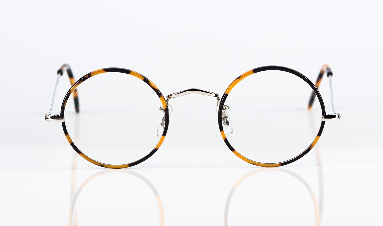 Savile Row – Algha – runde Metall Brille mit tortoise farbigem Windsorring - KITSCHENBERG Brillen