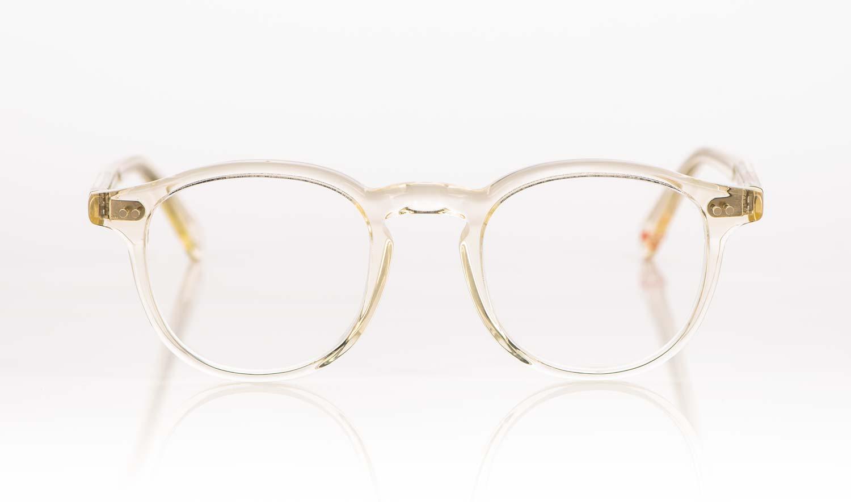 Alf – transparente Acetatbrille mit genieteten Gelenken - KITSCHENBERG Brillen