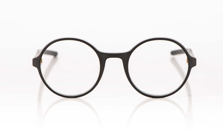 Voyou – runde schwarze 3D gedruckte Brille - KITSCHENBERG Brillen