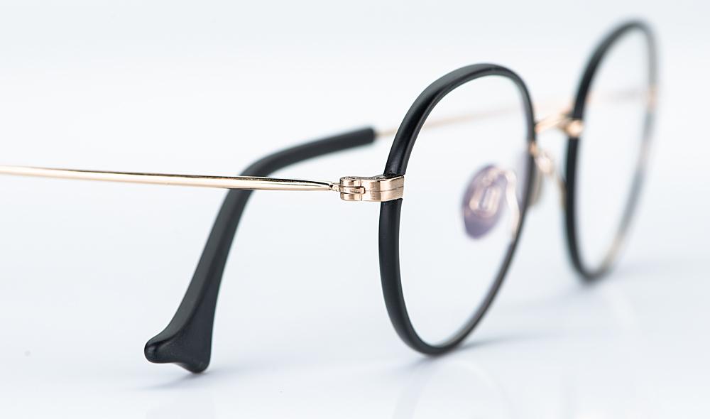 Willems – matt goldene Metall Pantobrille mit matt schwarzem Acetatring - KITSCHENBERG Brillen