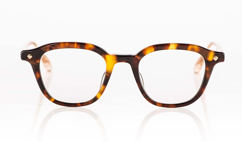 Lunetterie Generale – gesprenkelte bernsteinfarbige Kunststoff Brille - KITSCHENBERG Brillen