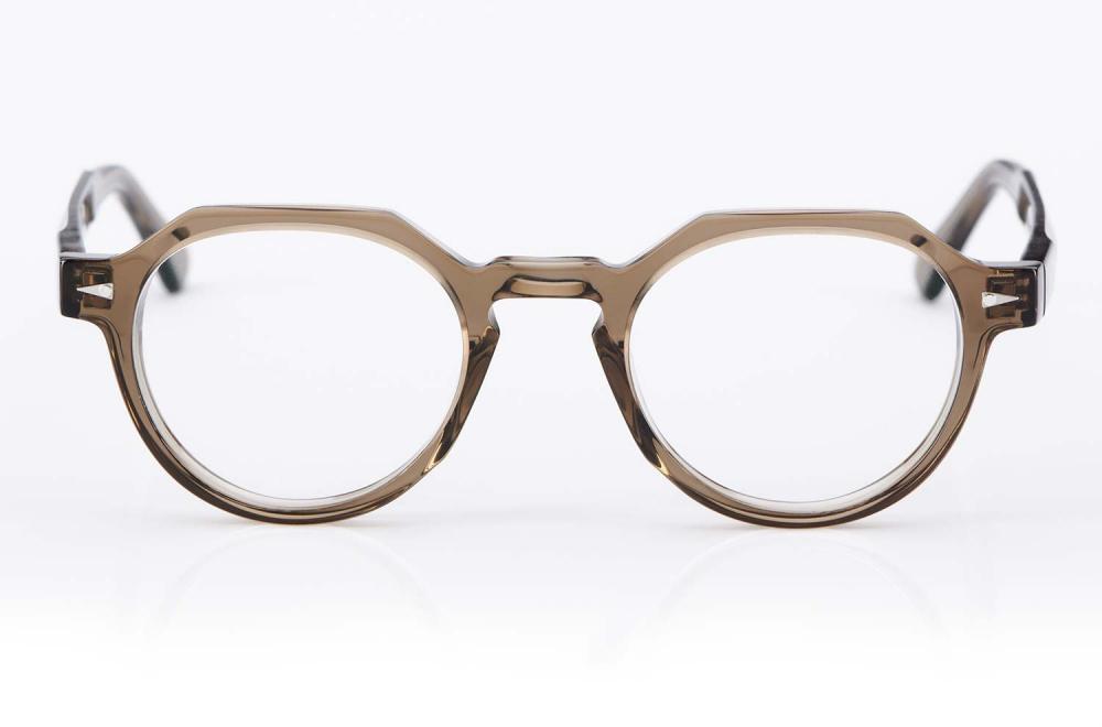 Ahlem – Kunststoffbrille aus hellem Acetat – Hergestellt in Frankreich – Runde Kronen Panto Form - KITSCHENBERG Brillen