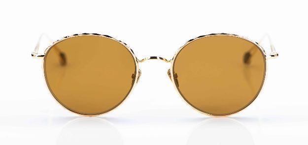 Ahlem - Sonnenbrille - goldenes Metallgestell mit braunen Gläsern - KITSCHENBERG Brillen