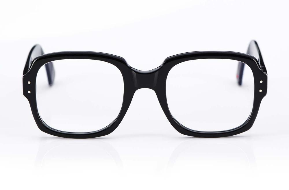 Alf – Atelier de Lunetterie Francais – große schwarze Brille im Vintage Retro Stil - KITSCHENBERG Brillen