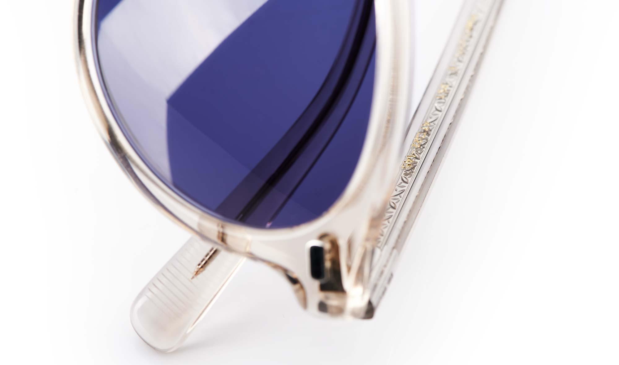 Eyevan – Panto Sonnenbrille – vintage – made in Japan – blaue Gläser - KITSCHENBERG Brillen