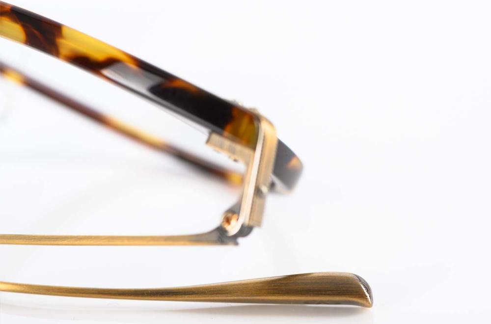 Eyevan – Havanna farbige Panto Kunststoffbrille – handgenietet mit Titan Bügeln - Retro – Vintage - made in Japan – KITSCHENBERG Brillen