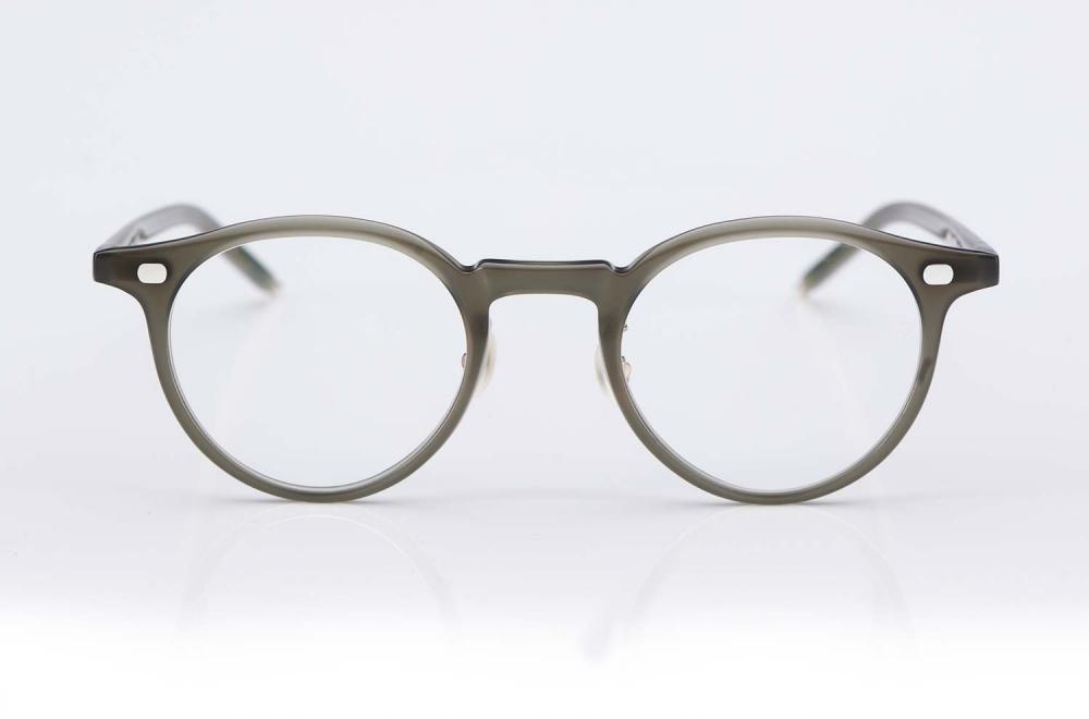 Eyevan – eyevan ten – runde Panto Kunststoffbrille mit Perlmutt Stegen – Silberne Nieten - made in Japan – KITSCHENBERG Brillen