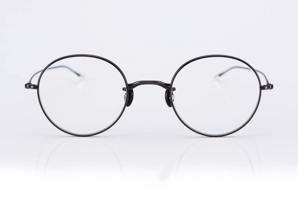 Eyevan – eyevan ten – filigrane Metallbrille – panto rund mit Perlmuttstegen - made in Japan – KITSCHENBERG Brillen