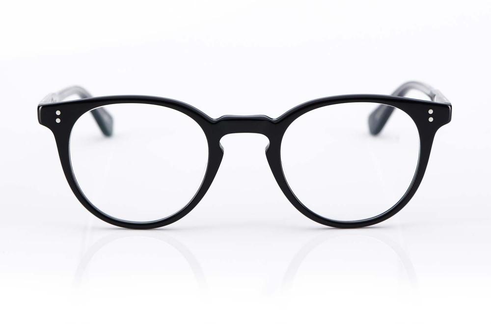 Garrett Leight – runde Panto Kunststoffbrille – matt schwarz – handfinished – genietet – Vintage – KITSCHENBERG Brillen