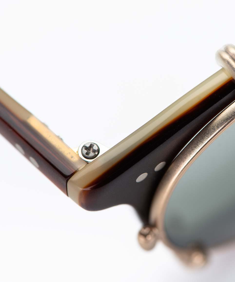 Garrett Leight – runde Panto Kunststoffbrille – mit rose farbigem Sonnenclip – Vintage – KITSCHENBERG Brillen