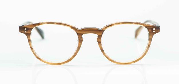 Hamburg Eyewaer - braune Acetat Pantobrille mit genieteten Gelenken - KITSCHENBERG Brillen