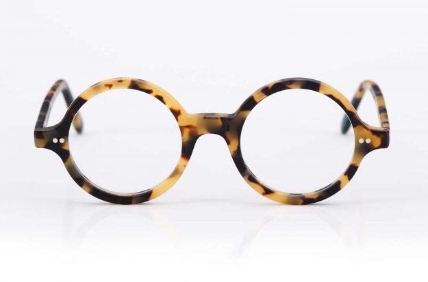 Kitschenberg Acetat – runde Vintage Kunststoffbrille im Retro Design – Schildpatt Optik - KITSCHENBERG Brillen
