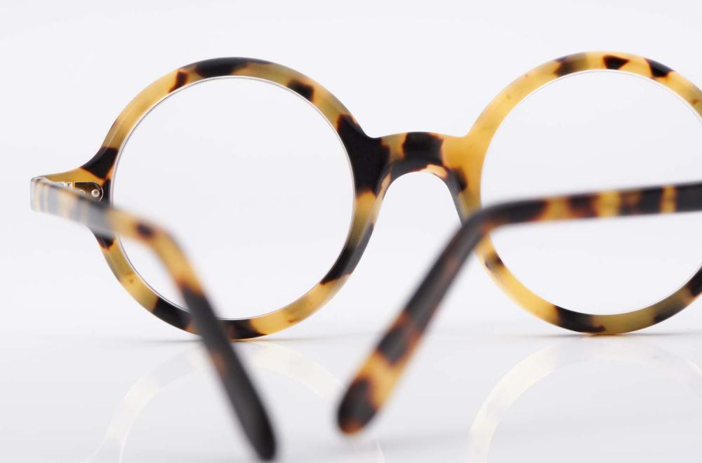 Kitschenberg Acetat – runde gefleckte Kunststoffbrille im Vintage Stil – made in Germany - KITSCHENBERG Brillen