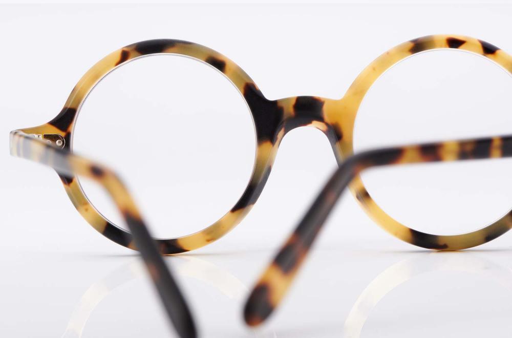Kitschenberg Acetat – runde Schildpatt imitat Brille aus Kunststoff - Vintage – Retro – Original - KITSCHENBERG Brillen