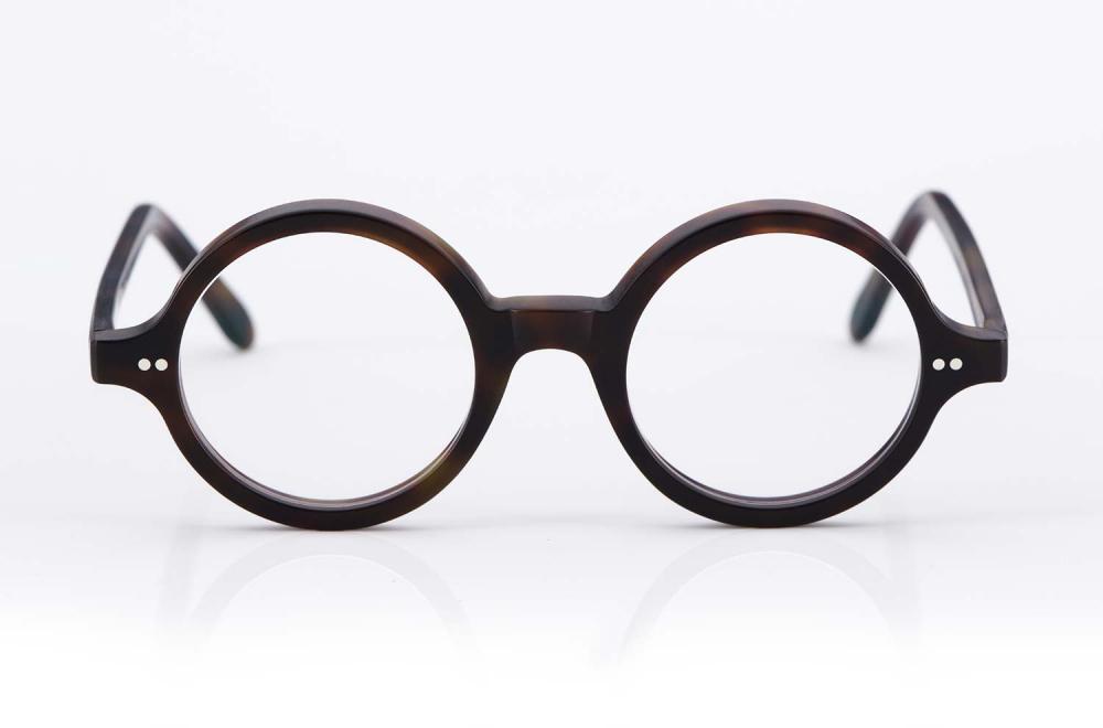 Kitschenberg Acetat – runde Vintage Kunststoffbrille im Retro Design – Havanna - KITSCHENBERG Brillen