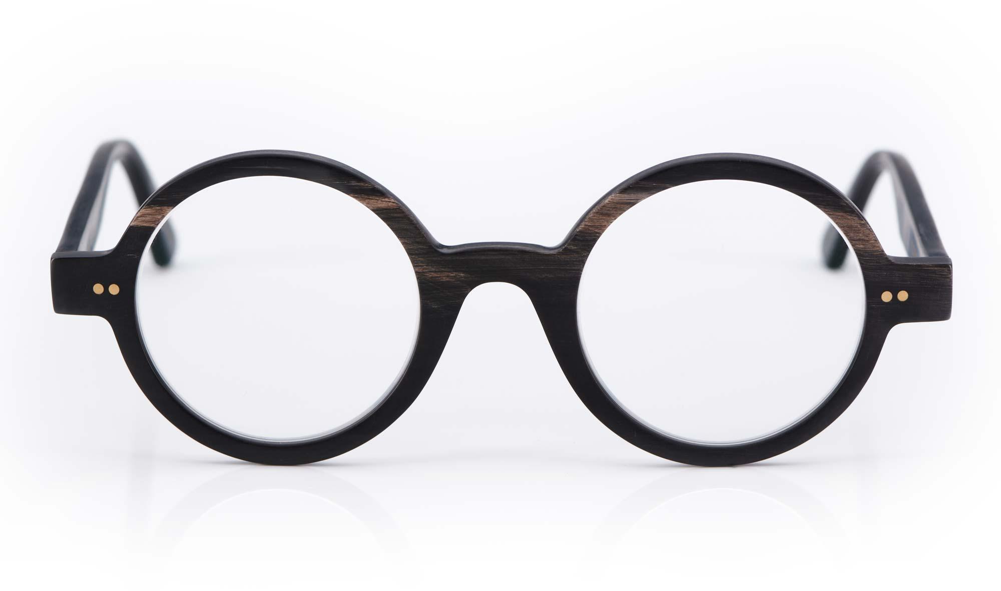 Kitschenberg Horn – runde Büffelhorn Brille – echtes natürliches Horn – Horn Maserung - KITSCHENBERG Brillen