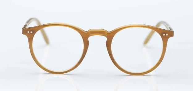 Kitschenberg Horn- maßangefertigte gelbbraune Naturhorn-Pantobrille - KITSCHENBERG Brillen