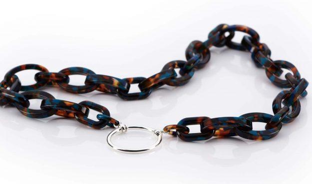 La Loop – Brillenkette – aus Los Angeles – Kunststoff Glieder – Silberring - KITSCHENBERG Brillen