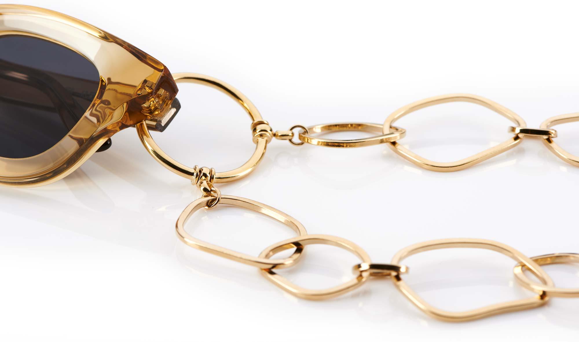 La Loop – Brillenkette – gold - KITSCHENBERG Brillen