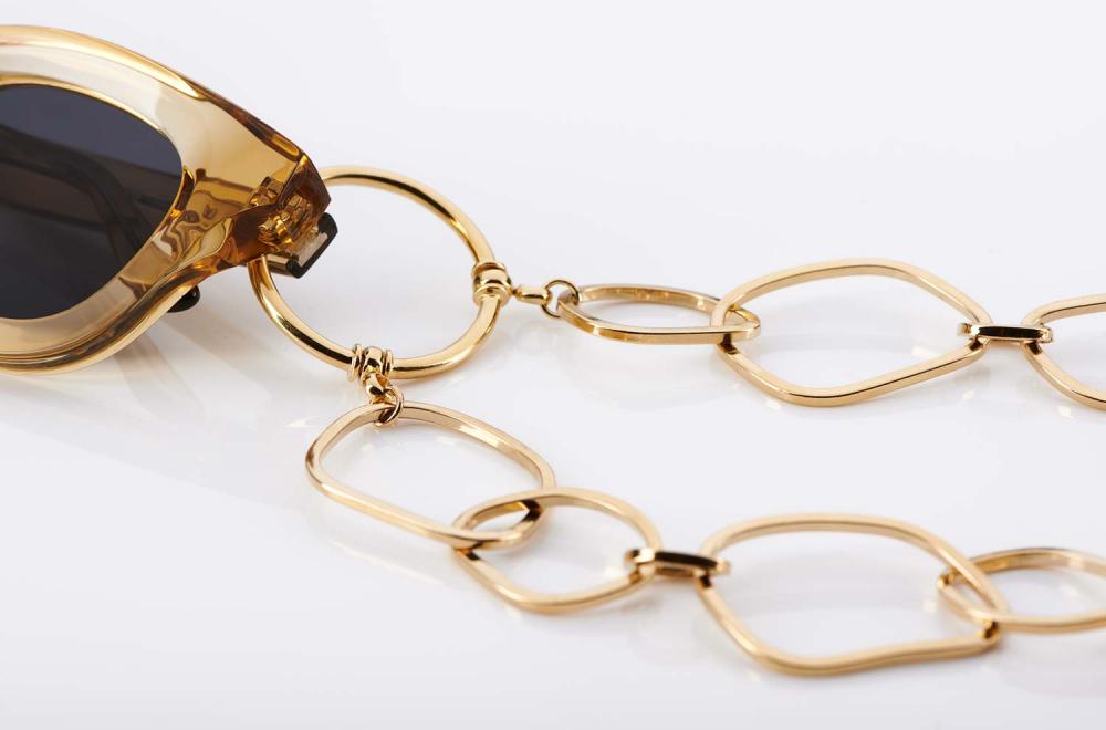 La Loop – Original Brillenkette aus LA – goldene Ringe - KITSCHENBERG Brillen
