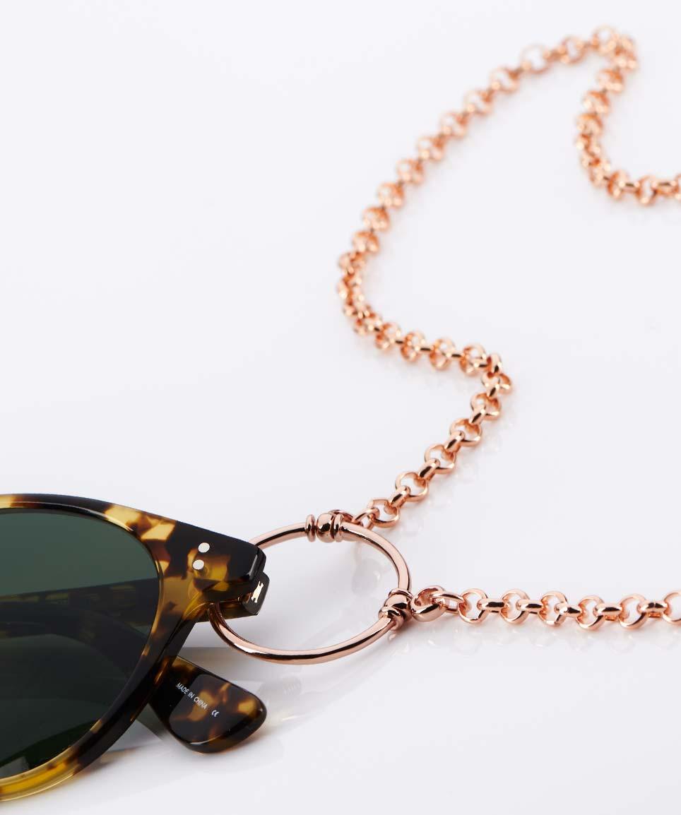 La Loop – Original Brillenkette aus LA – rose golden - KITSCHENBERG Brillen