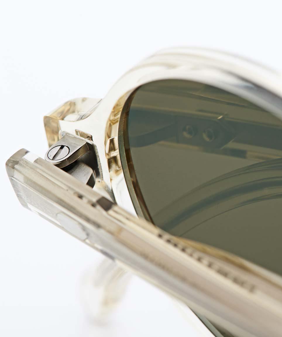 Lazare Studio – originale Retro Vintage Brille champagner farbige Sonnenbrille – Panto – Grüne Gläser – KITSCHENBERG Brillen