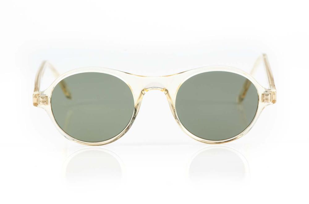 Lazare Studio – originale Retro Vintage Brille champagner farbige runde Sonnenbrille – Panto – Grüne Gläser – KITSCHENBERG Brillen