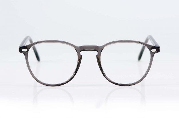 Lazare Studio – originale Retro Vintage Brille – grau transparente Acetat Brille Panto – KITSCHENBERG Brillen