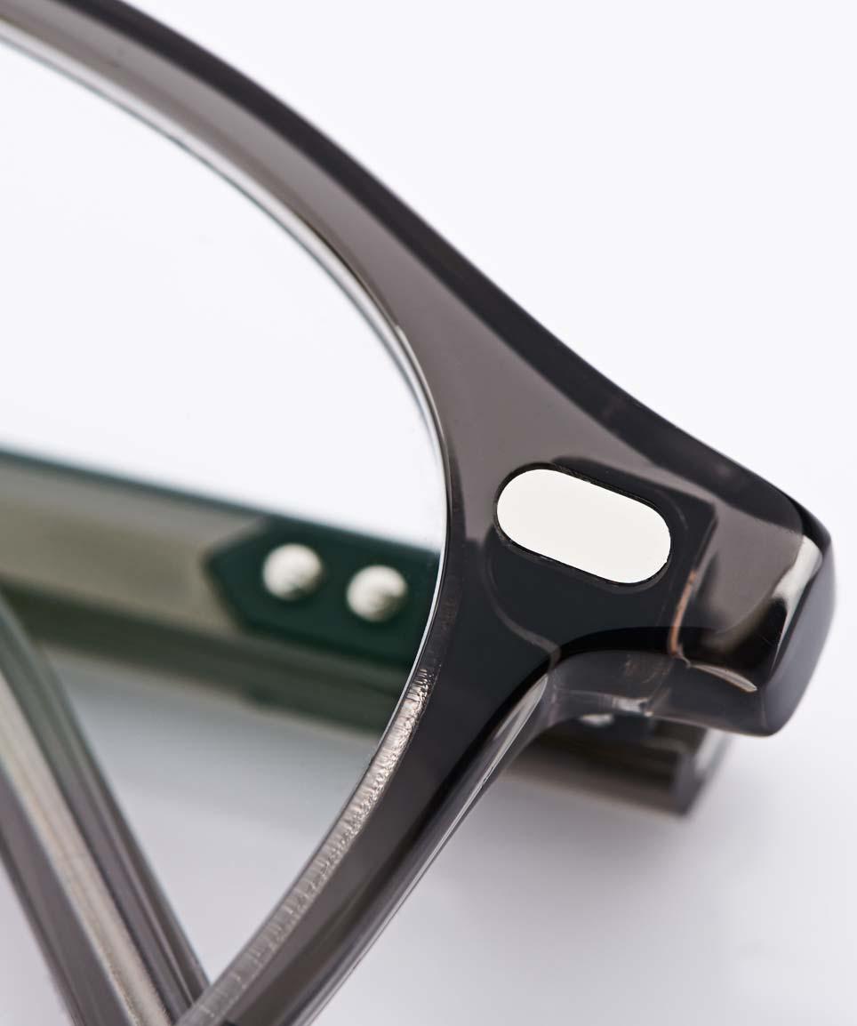 Lazare Studio – originale Retro Vintage Brille - grau transparente Kunststoffbrille – Panto – KITSCHENBERG Brillen