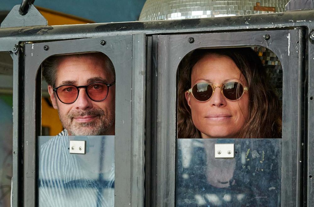 Andreas und Stefanie mit Lazare Studio – runde Sonnenbrillen - Vintage – Retro – Original - KITSCHENBERG Brillen