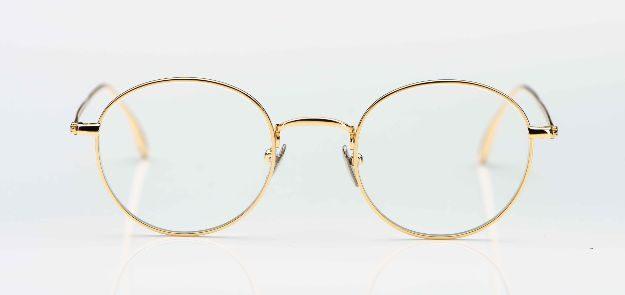 Massada - goldene, runde Titan Fassung - KITSCHENBERG Brillen