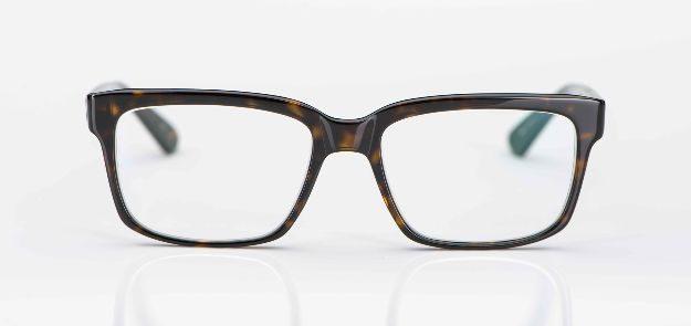 Masunaga - tortoisefarbige eckige Acetat Fassung - KITSCHENBERG Brillen