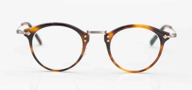 Masunaga - Pantobrille aus tortoisefarbigen Acetat und Titan Kombination - KITSCHENBERG Brillen