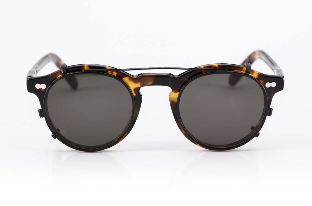 Moscot Originals – Panto – Retro – Vintage – Kunststoffbrille – Miltzen tortoise runde Brille mit Sonnenclip - KITSCHENBERG Brillen
