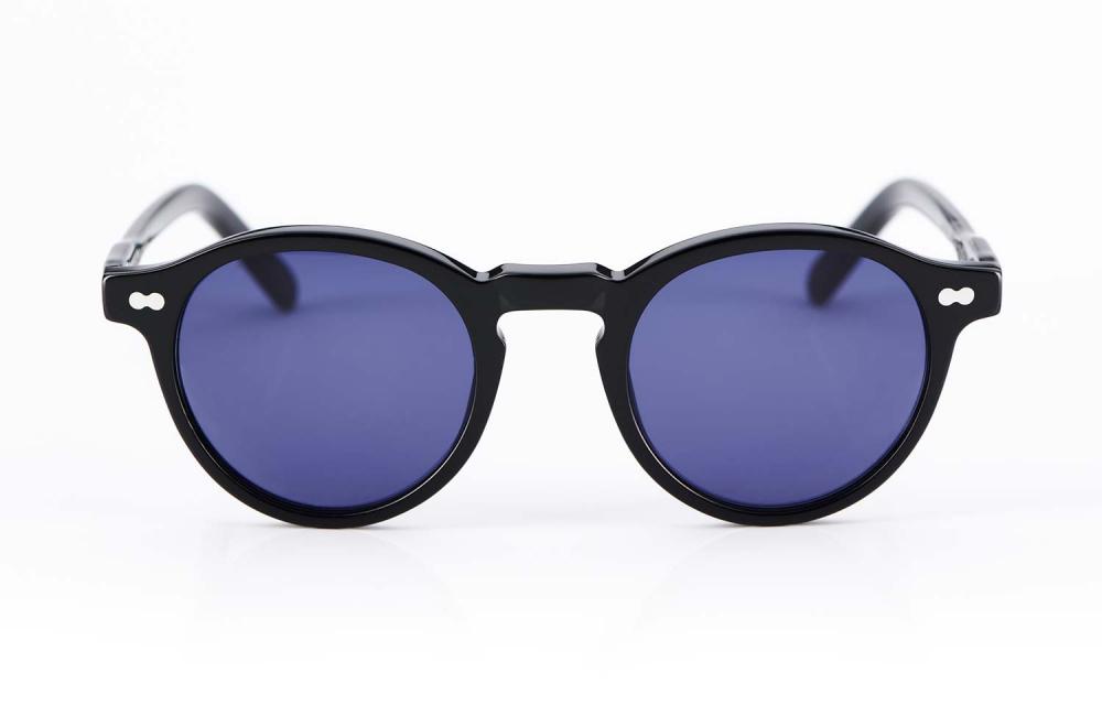 Moscot Originals – Panto – Retro – Vintage – Kunststoffbrille – runde Sonnenbrille Miltzen mit blauen Gläsern - KITSCHENBERG Brillen