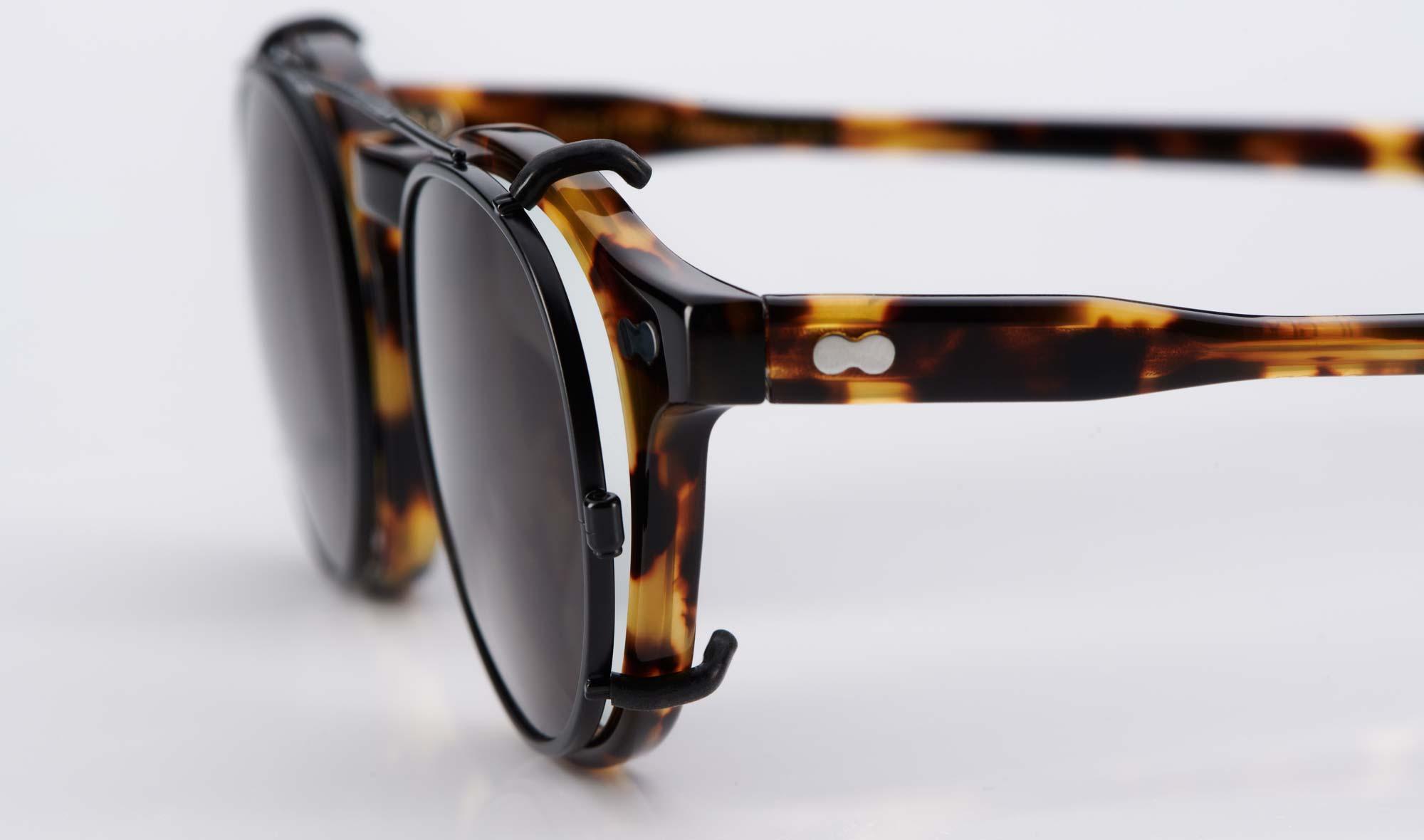 Moscot – Panto Brille mit Sonnen Clip – Havanna Tortoise – Vintage Look – Kunststoff - KITSCHENBERG Brillen