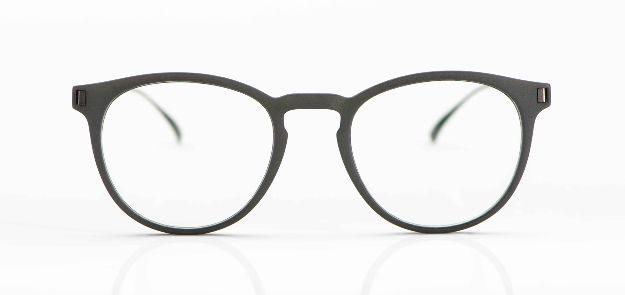 Mykita Mylon - grau, 3-D-gedruckte Pantobrille mit Edelstahlbügeln - KITSCHENBERG Brillen