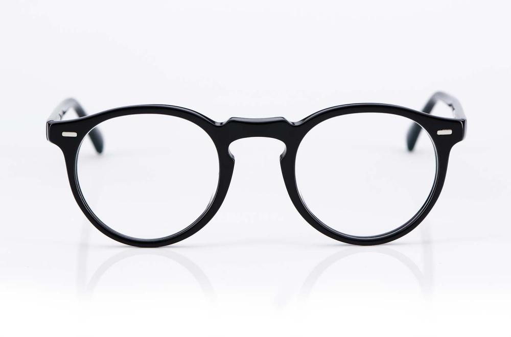 Oliver Peoples – Vintage – Originals – Gregory Peck – schwarz - Retro Design - Panto – rund – Kunststoffbrille – KITSCHENBERG Brillen