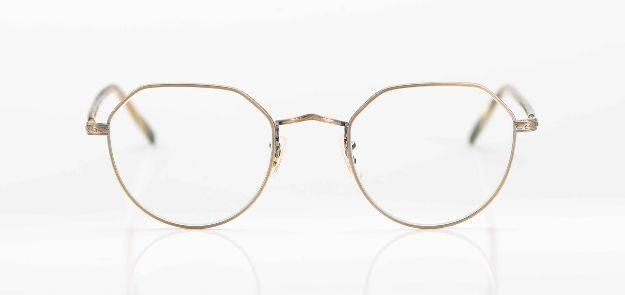 Oliver Peoples - goldene Metall Pantobrille - KITSCHENBERG Brillen