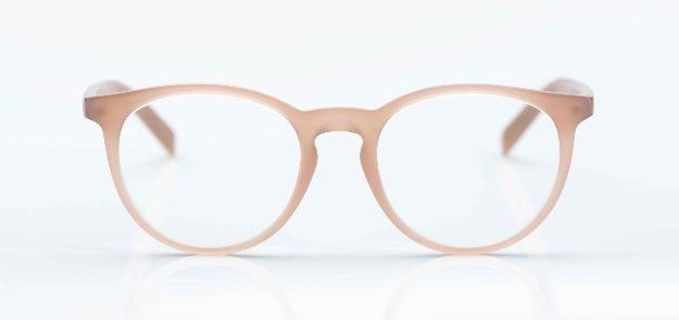 Oscar Magnuson - matte, roséfarbige Acetatbrille - KITSCHENBERG Brillen