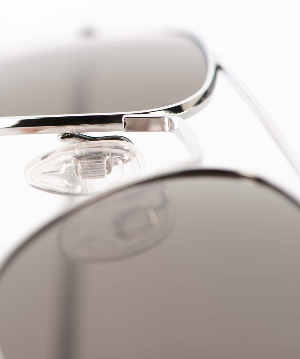 AO – American Optical – Original Retro – Sonnenbrille silber mit grauen Gläsern – Pilotenbrille- Aviator - KITSCHENBERG Brillen