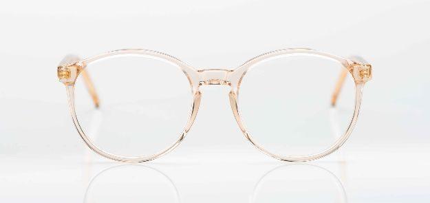 Reiz - runde, rosé transparente Acetatbrille - KITSCHENBERG Brillen
