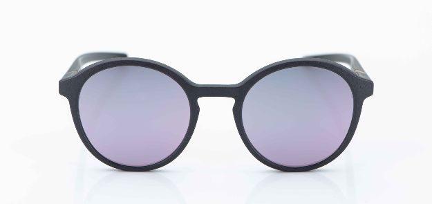Voyou - Sonnenbrille - 3-D gedruckte graue Brille mit lila Gläsern - KITSCHENBERG Brillen