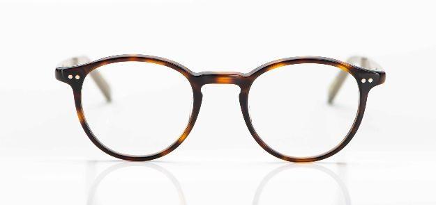 Yellows Plus - Panto Brille aus braunem Acetat - KITSCHENBERG Brillen